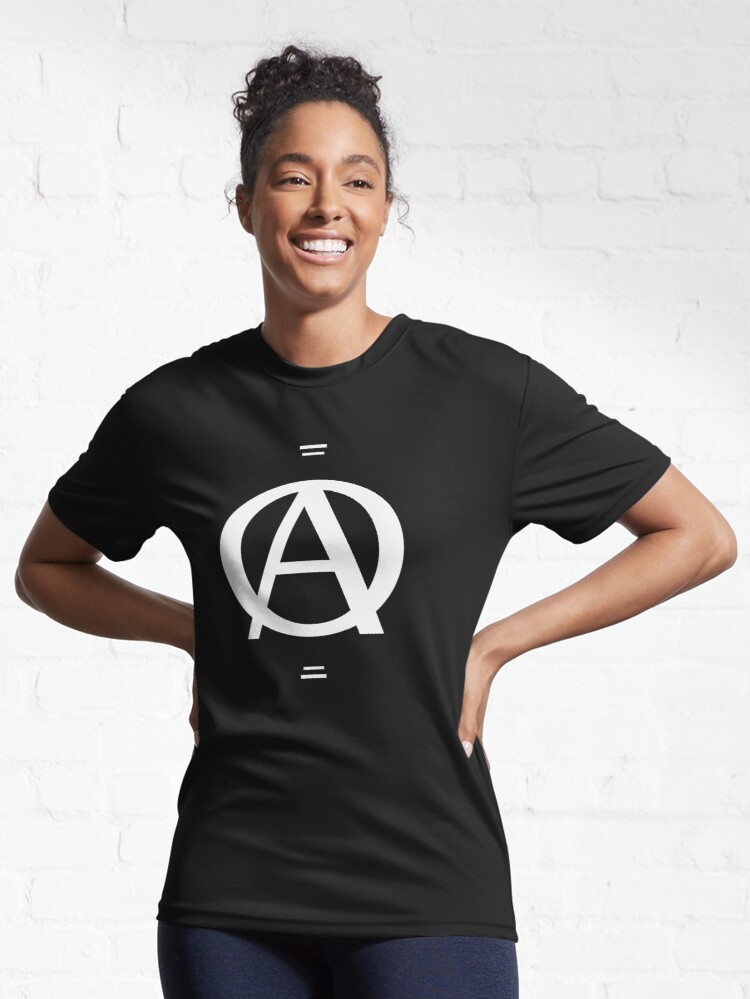 Alternate view of A over a O design Active T-Shirt
