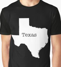 Texas State outline Graphic T-Shirt
