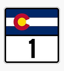 Colorado State Highway 1 Photographic Print