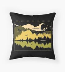 Music Timeline Throw Pillow