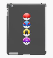 All 4 Pokemon Balls - Color iPad Case/Skin