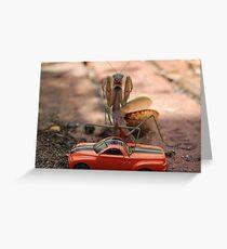 Monster Mantis Munches Metropolis! Greeting Card