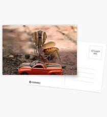 Monster Mantis Munches Metropolis! Postcards