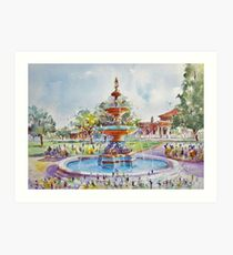 Fountain at Victoria Park, Forbes Art Print