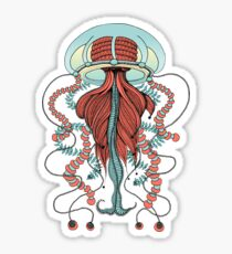 Space Jellyfish (Dr Seuss Inspired) by K80designs Sticker
