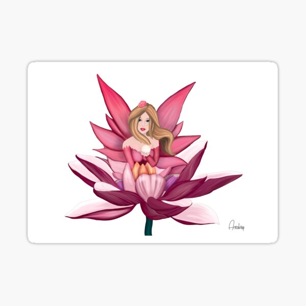 fairytale on water lily Sticker