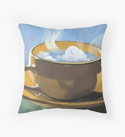 Coffee clouds Throw Pillow