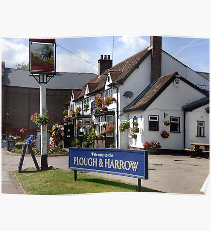 The Plough and Harrow in full flower Poster
