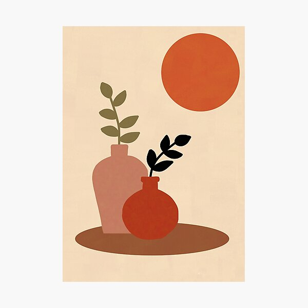 Abstract Plant Illustration Photographic Print