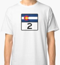 Colorado State Highway 2 Classic T-Shirt