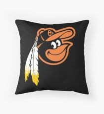 Redskins Orioles Throw Pillow
