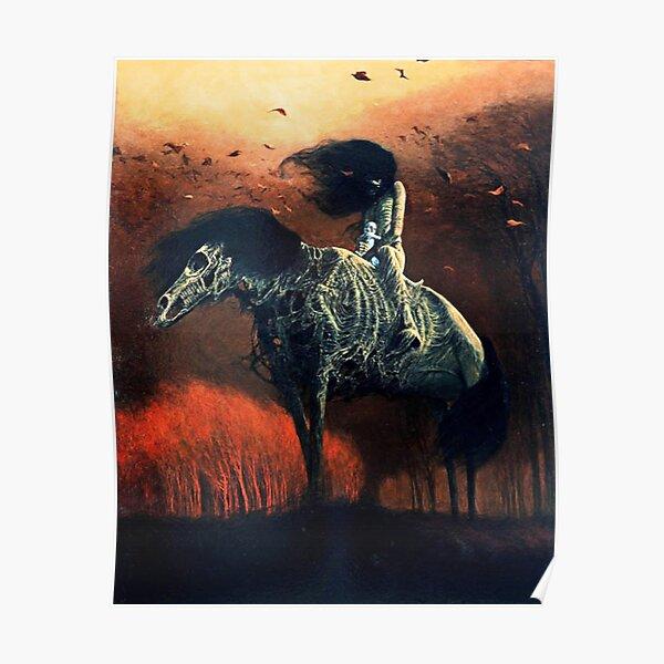 Untitled (Horse Rider), by Zdzisław Beksiński Poster