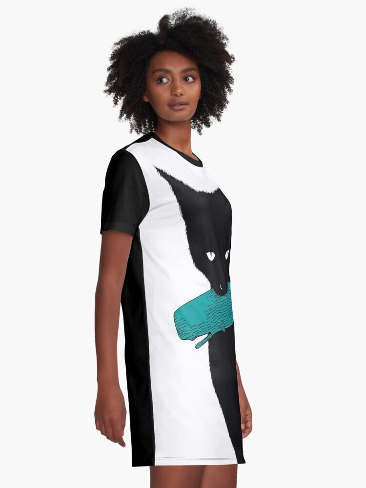 Vista alternativa de Vestido camiseta Tengo otra ballena