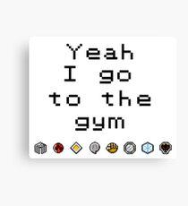 Pokemon gym- Johto Canvas Print