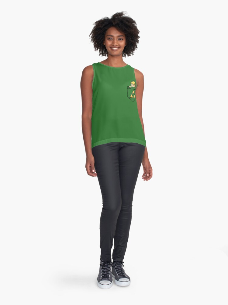 Alternate view of Legend of Zelda - Pocket Link Sleeveless Top