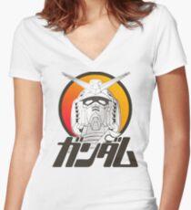 Gundam Women's Fitted V-Neck T-Shirt