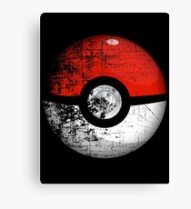 Destroyed Pokemon Go Team Red Pokeball Canvas Print