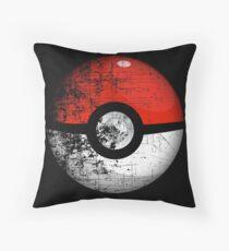 Destroyed Pokemon Go Team Red Pokeball Throw Pillow