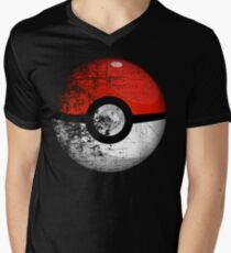 Destroyed Pokemon Go Team Red Pokeball Men's V-Neck T-Shirt