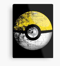 Destroyed Pokemon Go Team Yellow Pokeball Metal Print