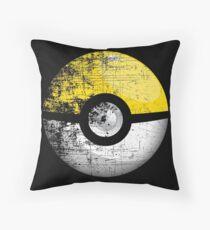 Destroyed Pokemon Go Team Yellow Pokeball Throw Pillow