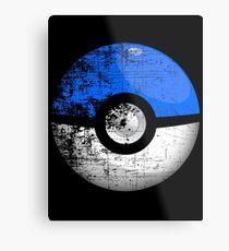 Destroyed Pokemon Go Team Blue Pokeball Metal Print