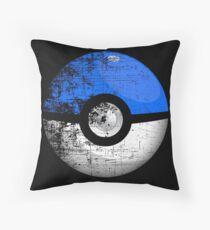 Destroyed Pokemon Go Team Blue Pokeball Throw Pillow