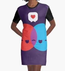 Love Diagram Graphic T-Shirt Dress