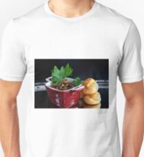 Profiteroles And Chicken Heart Ragout With Champignons Unisex T-Shirt