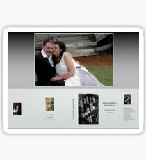 Wedding Album Cover Sticker