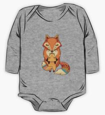 Mom and Baby Fox together One Piece - Long Sleeve