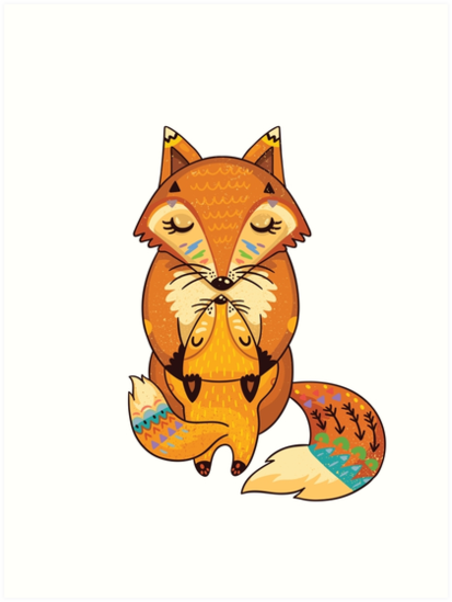 Quot Mom And Baby Fox Together Quot Art Prints By Penguinhouse