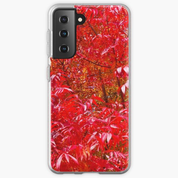 Beautiful intense red autumn leaves Samsung Galaxy Soft Case