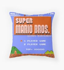 Super Mario Bros Throw Pillow
