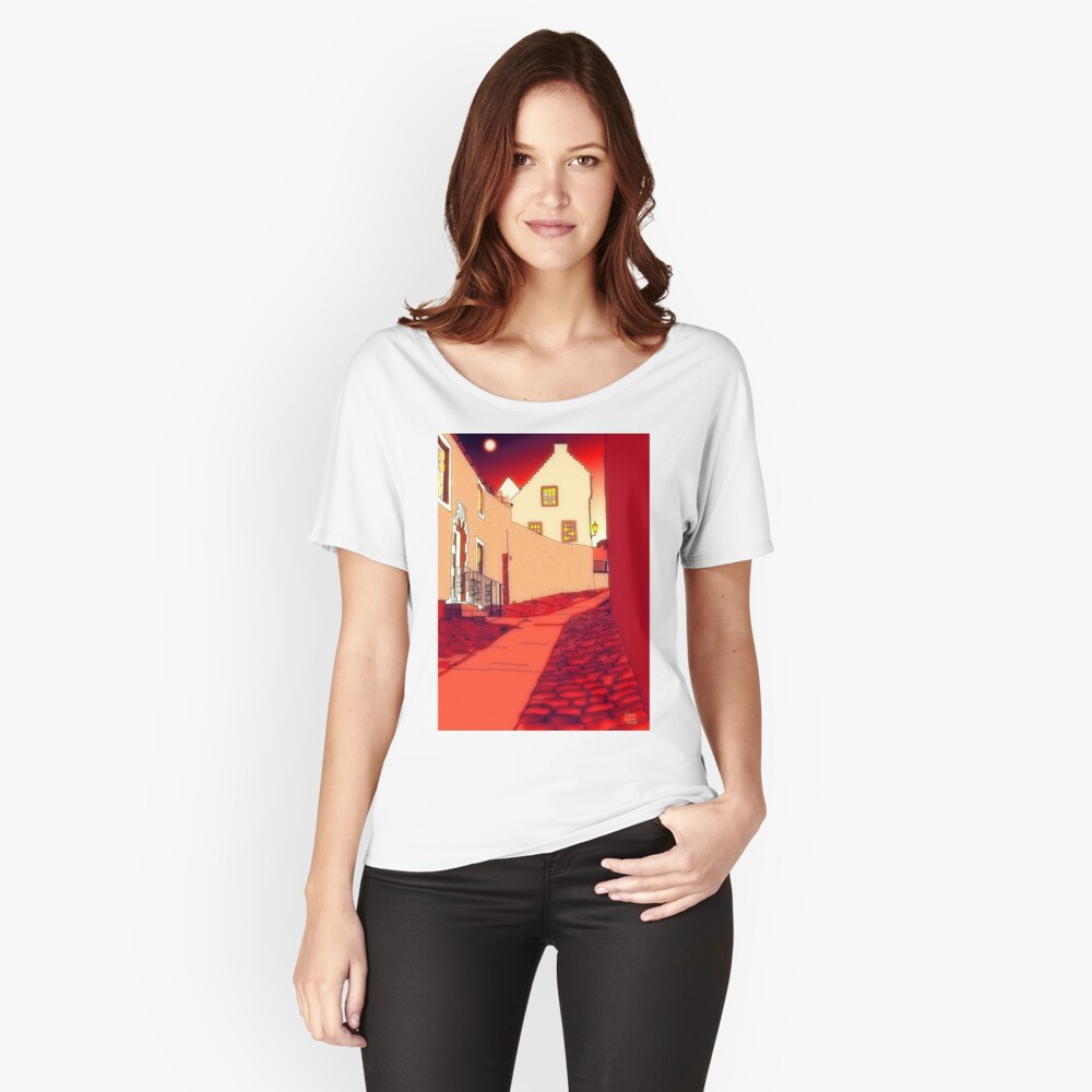Dysart: Scottish Town digital drawing Relaxed Fit T-Shirt