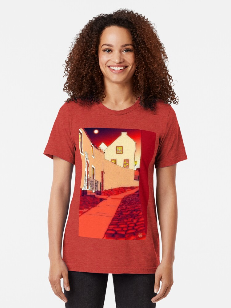 Alternate view of Dysart: Scottish Town digital drawing Tri-blend T-Shirt