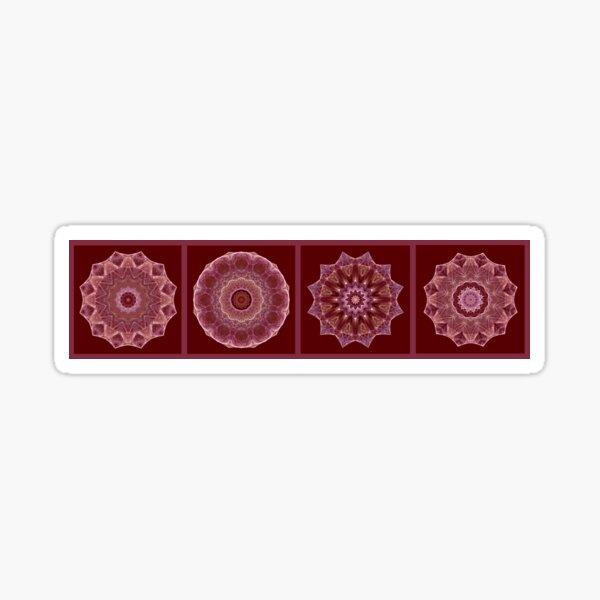 Dusty Rose Mandala Fractal Panel Sticker
