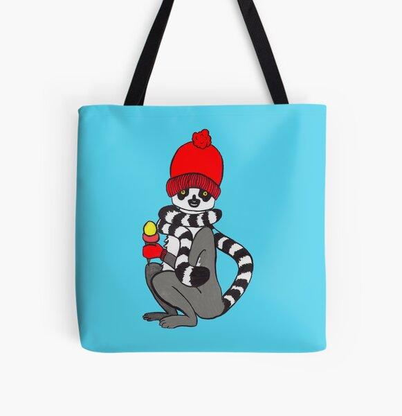 Lemur loves icecream All Over Print Tote Bag