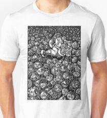 Girl in Field of Friendly Flowers Chatting on Phone T-Shirt