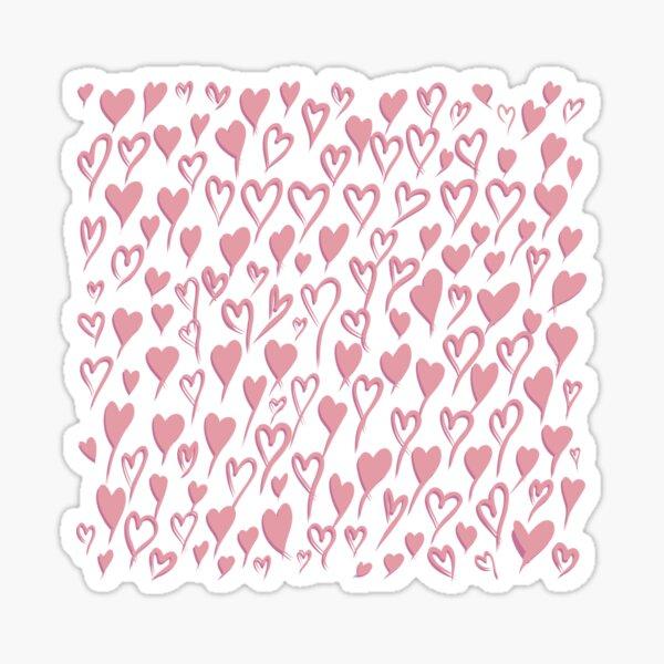 Love heart pattern in pale pink Sticker