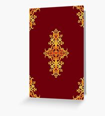 Ethiopian Cross 3. Red and Gold Greeting Card