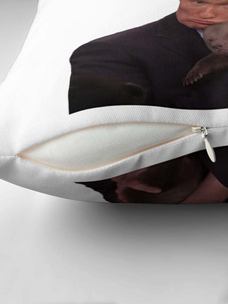 "Alternate view of CONAN O'BRIEN ""I LOVE THIS BEAR MORE THAN MY OWN CHILDREN"" Floor Pillow"