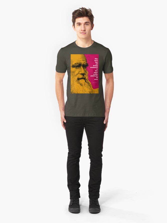 Alternate view of Charles Darwin Quote  Slim Fit T-Shirt