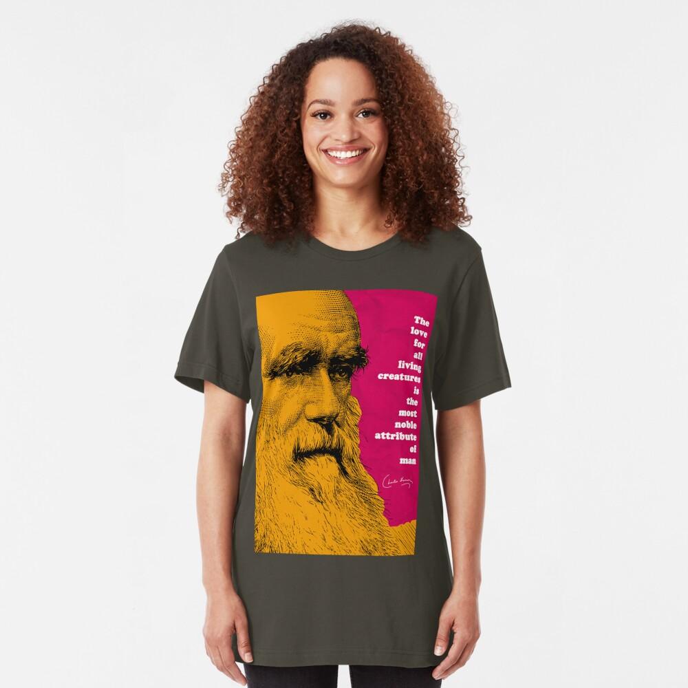 Charles Darwin Quote  Slim Fit T-Shirt