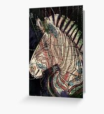 Street Zebra Greeting Card