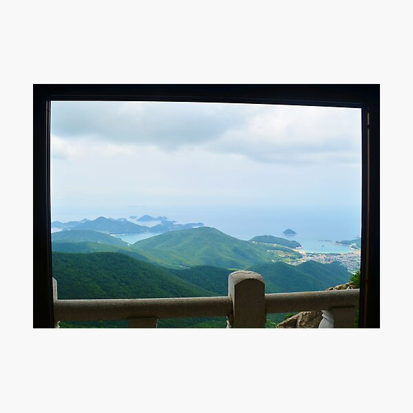 Peaceful Island Temple, Calming Wall Art, Printable Wall Art, Temple Photo, Buddhism Wall Art Photographic Print