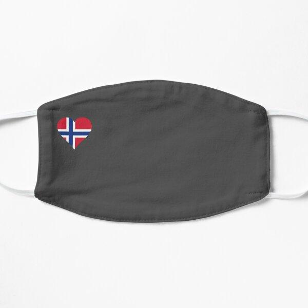 Norwegen Flagge Herz grau Flache Maske