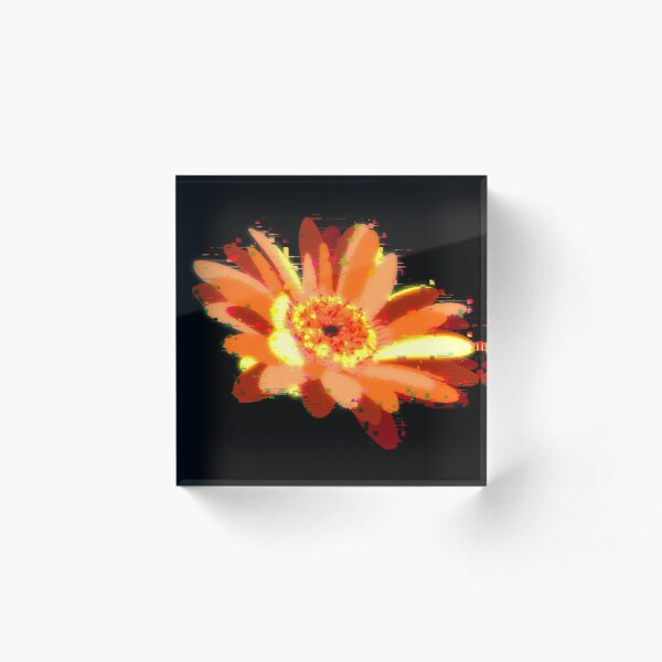 Digital flower  Acrylic Block