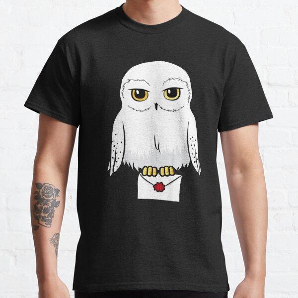 T-shirt Portrait de dessin animé mignon Hedwige T-shirt classique
