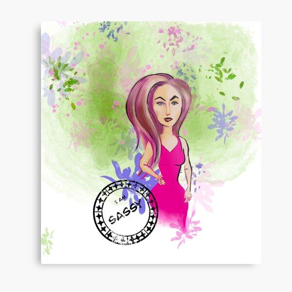 Sassy woman in springtime Metal Print